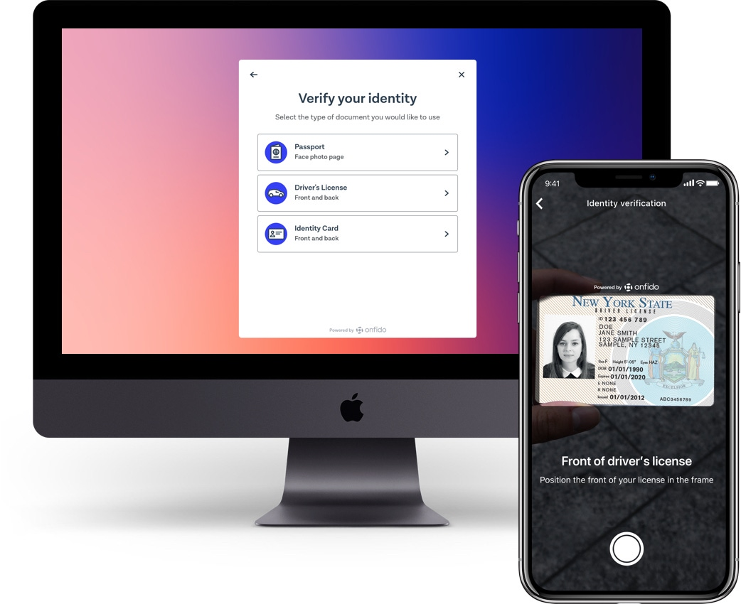 License verification for drivers and age           verification for riders
